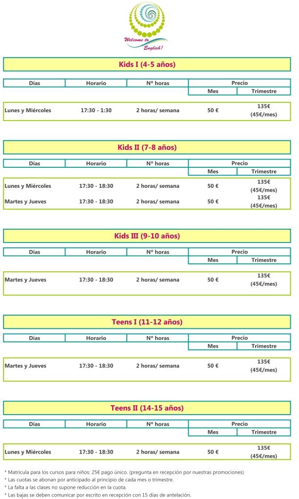 Horarios y Precios cursos de inglés para niños.xlsx